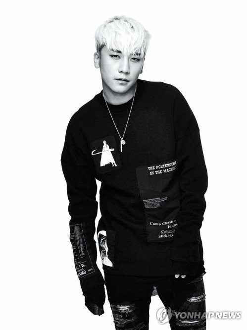 This file photo provided by YG Entertainment is of Seungri, a member of boy band Big Bang. (Yonhap)