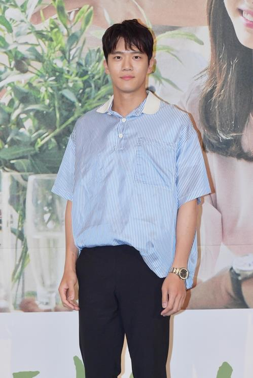 "Actor Ha Seok-jin poses for photos during a media promotion event for the upcoming television series ""Your House Helper"" on KBS 2TV in Seoul on July 2, 2018. (Yonhap)"