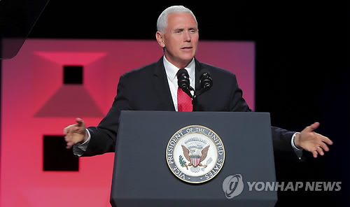 Pence calls out N. Korea's religious persecution