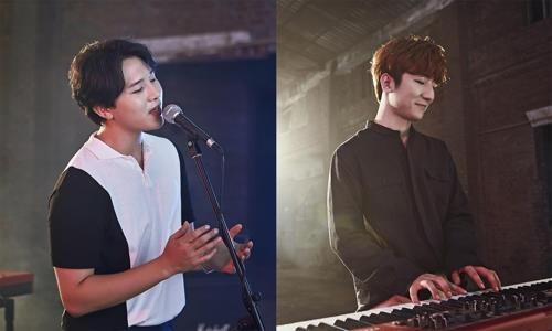These photos provided by SM Entertainment show MeloMance members Kim Min-seok (L) and Jeong Dong-hwan. (Yonhap)
