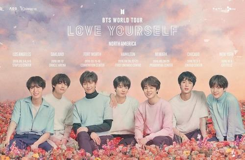 This promotional image for an upcoming BTS world tour was provided by Big Hit Entertainment. (Yonhap)