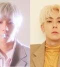 These images provided by SM Entertainment show EXO's Baekhyun (L) and Loco. (Yonhap)