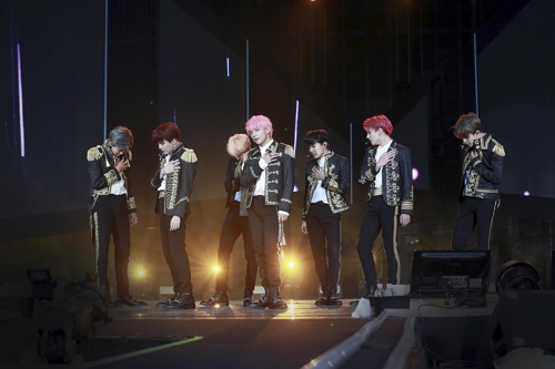 This image from BTS' Seoul concert at Seoul Sports Complex from Aug. 25-26, 2018, was provided by Big Hit Entertainment. (Yonhap)