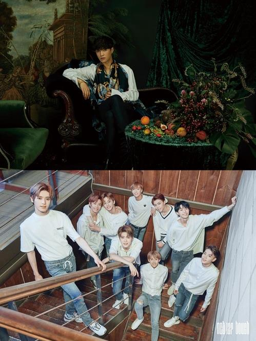 These images of EXO's Lay and NCT 127 were provided by SM Entertainment. (Yonhap)