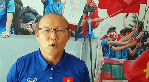Park Hang-seo, the South Korean head coach of Vietnam's U-23 national football team, speaks during an interview with Yonhap News Agency in Hanoi on Sept. 3, 2018. (Yonhap)