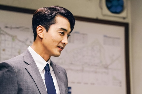 "The image provided by OCN shows actor Song Seung-heon, who plays Kang Ha-ri in the new series ""Player."" (Yonhap)"