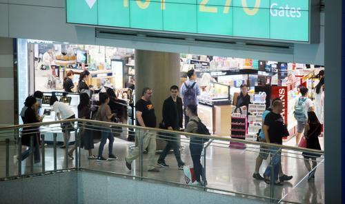 This file photo, taken June 22, 2018, shows duty-free shops at Incheon International Airport, west of Seoul. (Yonhap)