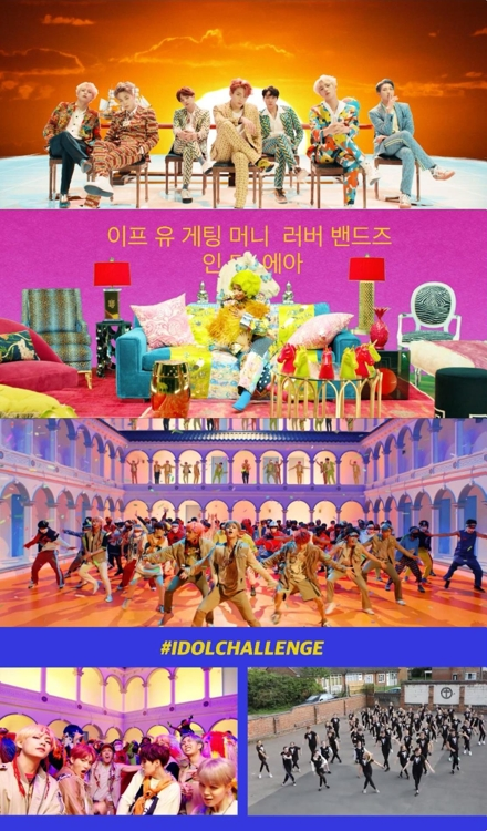 "These images captured from BTS' music video of their song ""Idol"" featuring Nicki Minaj are provided by Big Hit Entertainment. (Yonhap)"