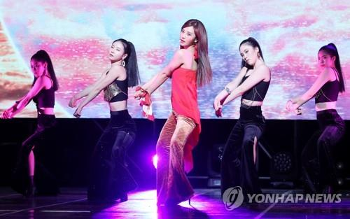 """Yuri showcases her new album, """"The First Scene,"""" at a media event on Oct. 4, 2018. (Yonhap)"""