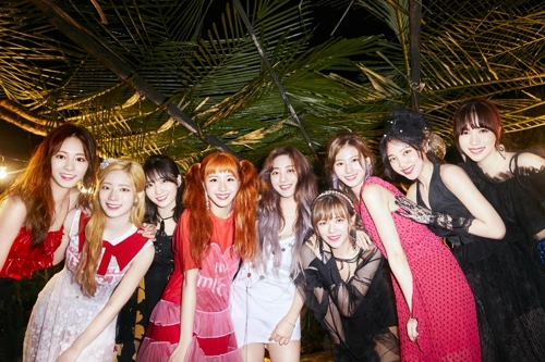 This image of TWICE is provided by JYP Entertainment. (Yonhap)