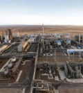 This undated photo shows a petrochemical plant built by a Hyundai Engineering-led consortium in Turkmenistan. (Yonhap)