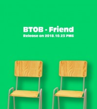 "This jacket image for the upcoming BTOB single ""Friend"" was provided by Cube Entertainment. (Yonhap)"