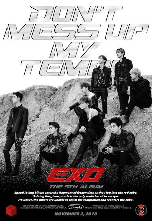 "This publicity image for EXO's new album, ""Don't Mess Up MY Tempo,"" was provided by SM Entertainment. (Yonhap)"