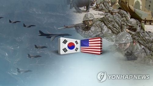 This image, provided by Yonhap News TV, shows South Korean and U.S. troops engaging in a combined exercise. (Yonhap)