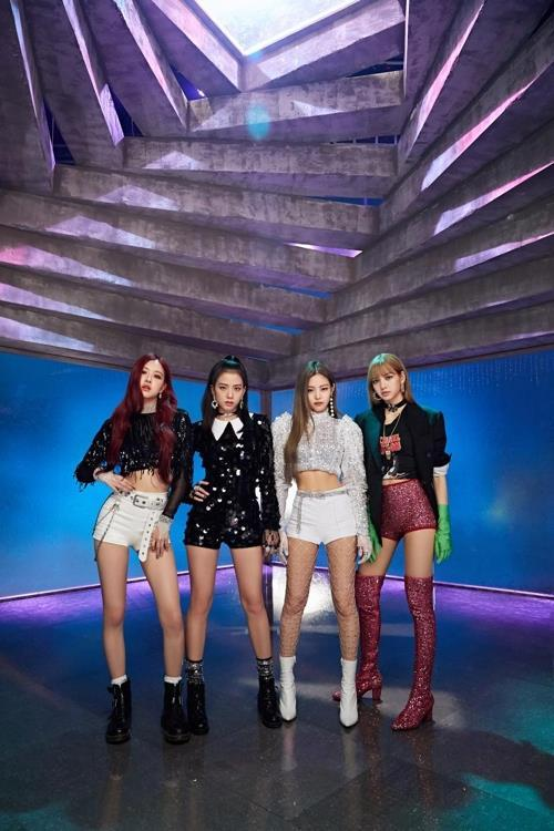 The K-pop girl group BLACKPINK poses in this photo provided by YG Entertainment. (Yonhap)