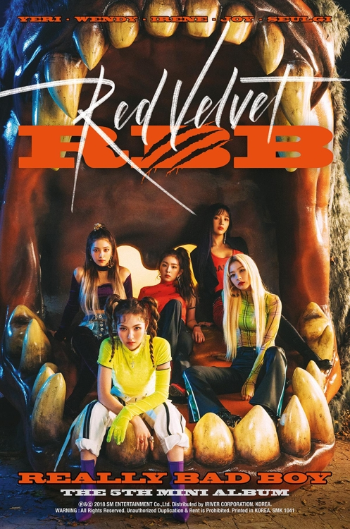 "This image provided by SM Entertainment shows an English-language promotional poster for Red Velvet's fifth EP album, titled ""RBB,"" set to be released on Nov. 30. (Yonhap)"