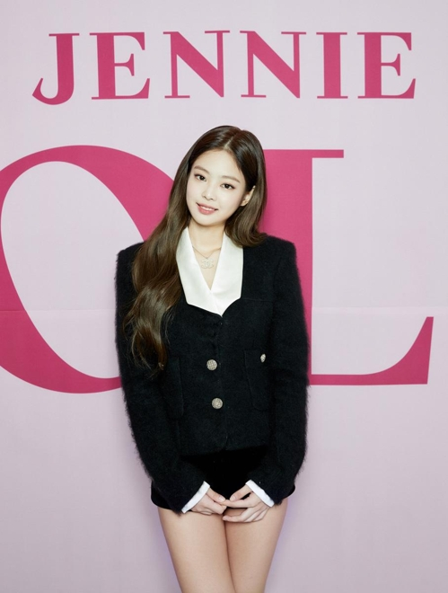 "This photo provided by YG Entertainment shows a promotional image for ""Solo,"" the first single from Jennie of girl group BLACKPINK. (Yonhap)"