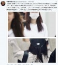 This image captured from Onodera Masaru's Twitter account shows TWICE member Dahyun's T-shirt made by Marymond, a company that supports South Korean women who were used as sex slaves by the Japanese military during World War II. (Yonhap)