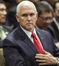 This AP photo shows U.S. Vice President Mike Pence at the East Asia Summit in Singapore on Nov. 15, 2018. (Yonhap)