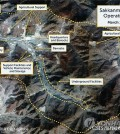 A satellite photo, taken by DigitalGlobe on March 28, 2018, of the Sakkanmol missile operation base in North Korea in an image provided by Reuters. (Yonhap)