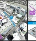 This image and map provided by the Seoul Metropolitan Government show designs for the test run of 5G self-driving cars in the Sangam district in western Seoul. (Yonhap)