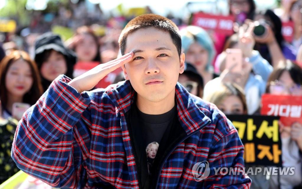 이홍기, 이제 나도 군인 (양구=연합뉴스)