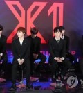 This file photo shows X1 speaking at a press conference in Seoul on Aug. 27, 2019. (Yonhap)