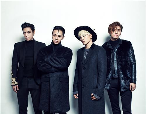 A photo of South Korean band BIGBANG provided by YG Entertainment (PHOTO NOT FOR SALE) (Yonhap)
